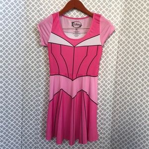 Disney pink superhero cosplay costume dress m/l